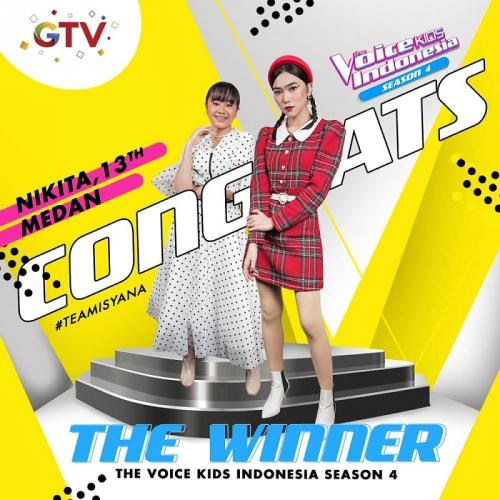 Nikita Mawarni pemenang The Voice Kids Indonesia Season 4. (Foto: Instagram/@thevoicekidsgtv)
