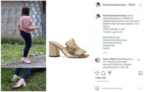 Sandal Gucci Amanda Manopo. (Foto: Instagram @fashionamandamanopo)