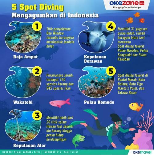 Infografis Spot Diving Terbaik