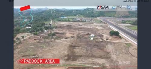 Tanah kosong yang nantinya akan jadi paddock area