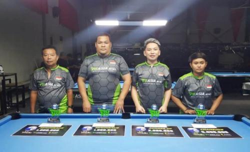 Rudi Ateng menang di Turnamen Biliar Carom 3 Cushion