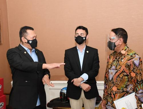 Bambang Soesatyo, Raffi Ahmad, dan Zainudin Amali
