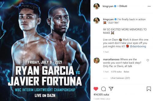 Ryan Garcia vs Fortuna