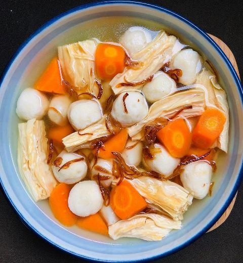 Sop kembang tahu bakso ikan. (Foto: Instagram @eddriantjhia)