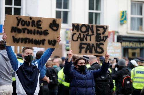 Fans menolak adanya Liga Super Eropa