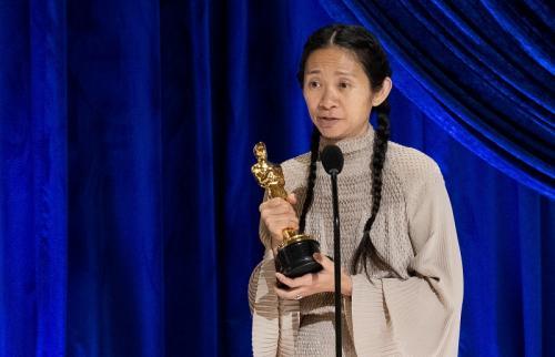 Chloe Zhao Todd Wawrychuk AMPAS/REUTERS