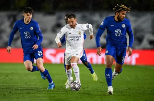 Suasana laga Madrid vs Chelsea di leg I semifinal Liga Champions 2020-2021