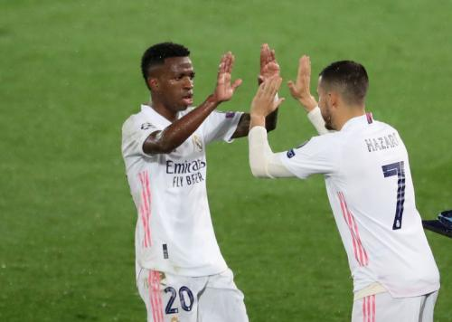 Aksi Hazard di laga Madrid vs Chelsea