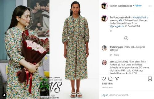 Dress vintage Nagita Slavina. (Foto: Instagram @fashion_nagitaslavina)