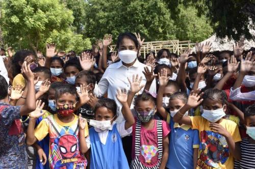 Menteri PPPA Bintang Puspayoga di lokasi bencana alam NTT. (Foto: Dok Kementerian PPPA)