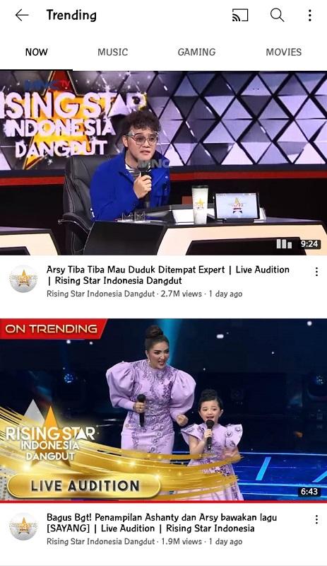 Arsy trending 1 di YouTube.