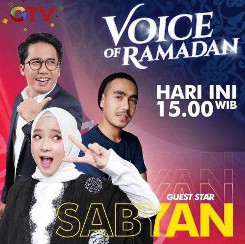 Sabyan Gambus berkolaborasi dengan grand finalis Voice of Ramadan. (Foto: GTV)