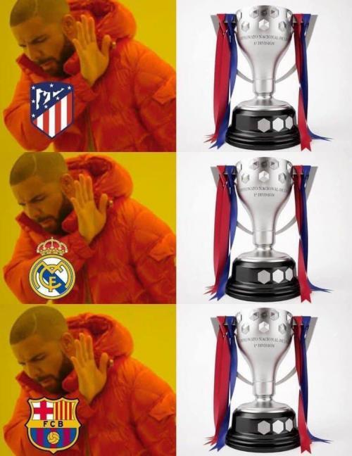 Meme Madrid, Atletico, dan Barcelona menolak trofi Liga Spanyol