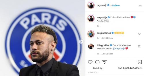 Ramos ikut mengomentari posting-an Neymar Jr