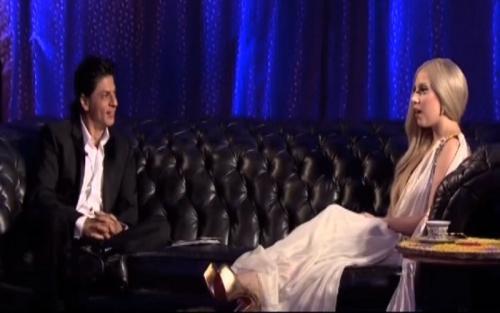 Lady Gaga dan Shah Rukh Khan.