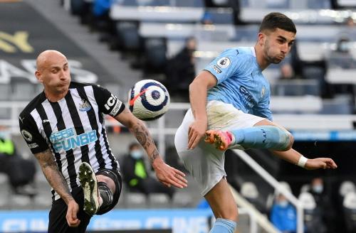 Ferran Torres vs Newcastle (Foto: Reuters)