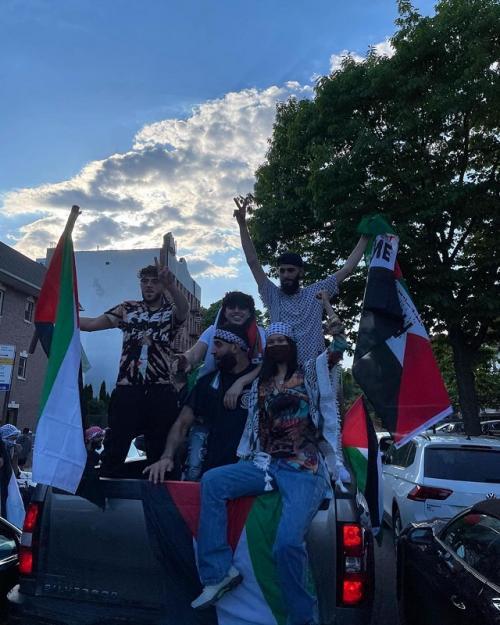 Bella Hadid ikut demo bela Palestina di New York. (Foto: Instagram/@bellahadid)