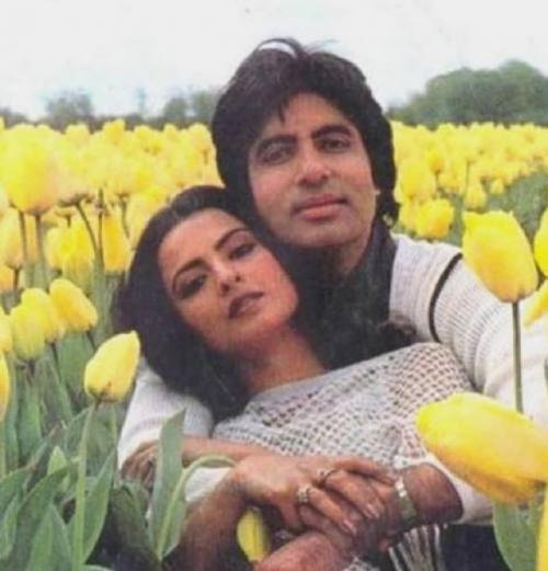 Amitabh Bachchan dan Rekha.
