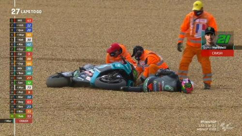 Insiden Morbidelli kecelakaan di MotoGP Prancis 2021