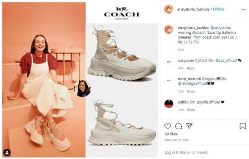 Sneakers Enzy Storia. (Foto: Instagram @enzystoria_fashion)