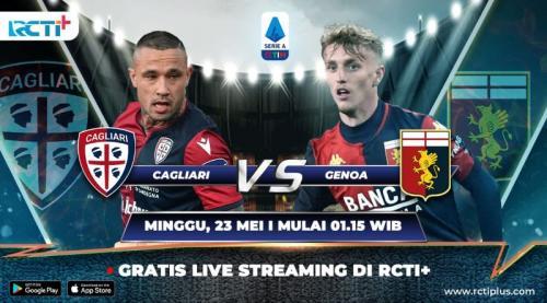 Cagliari vs Genoa bisa disaksikan di RCTI+