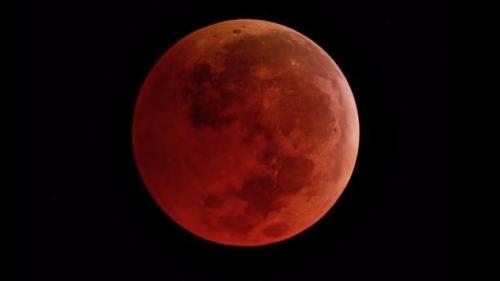 Gerhana bulan total. (Foto: NASA)