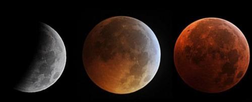 Gerhana bulan. (Foto: AFP)