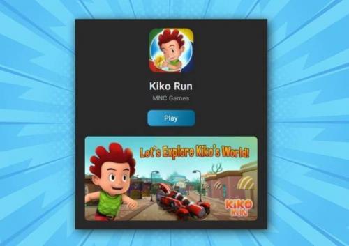 Game Kiko Run di aplikasi RCTI+. (Foto: RCTI+)
