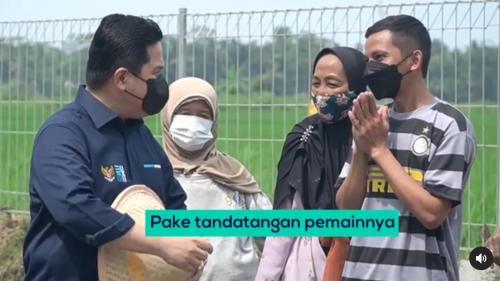 Erick Thohir bertemu fans Inter Milan saat kunjungan kerja