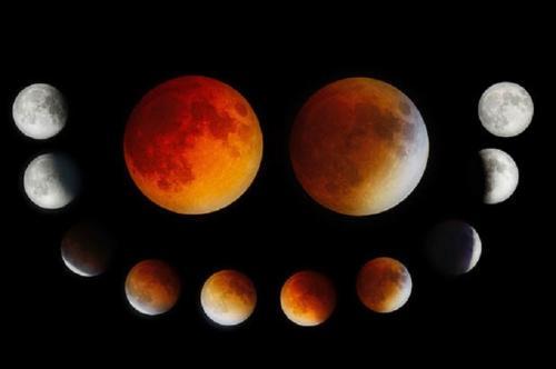 Ilustrasi gerhana bulan total. (Foto: Dailystar)