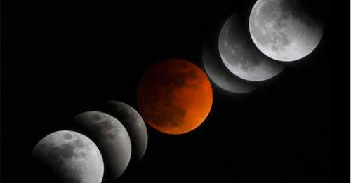 Gerhana bulan. (Foto: Daily Express)