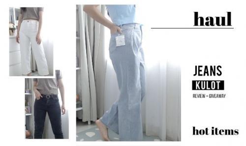Carysha memberi rekomendasi celana boyfriend jeans terjangkau. (Foto: YouTube Carysha)
