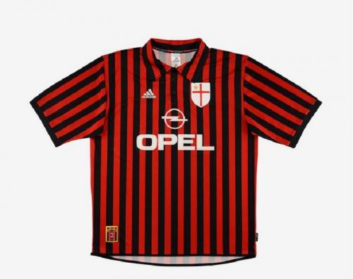 Jersey kandang AC Milan 1999-2000