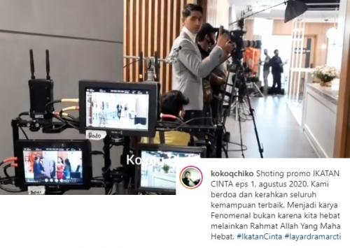 Syuting perdana Ikatan Cinta. (Foto: Instagram/@kokoqchiko)