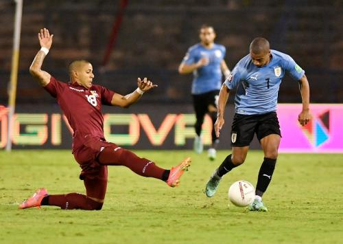 Suasana laga Venezuela vs Uruguay