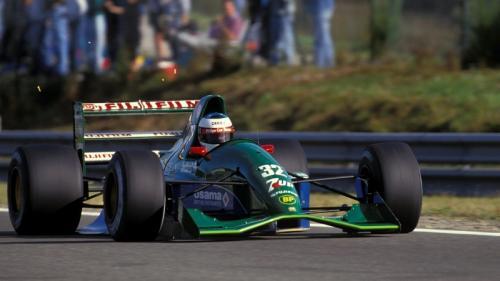 Mobil Michael Schumacher saat debut di F1