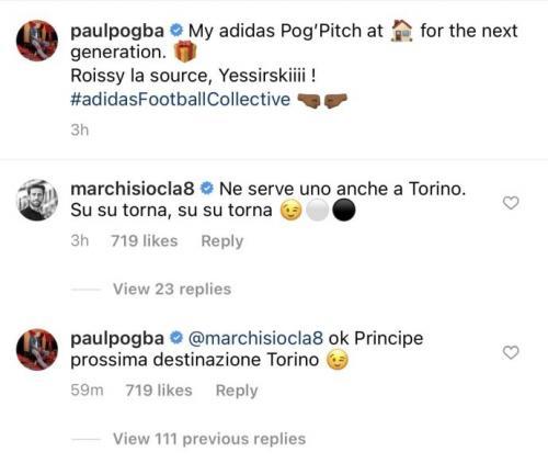 Perbincangan Claudio Marchisio dan Paul Pogba (Foto: Instagram/@paulpogba)