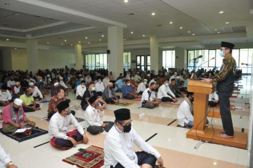Khotbah Jumat. (Foto: Rus Akbar/Okezone)
