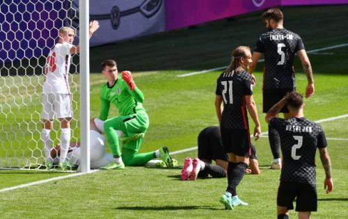 Aksi Harry Kane di laga Inggris vs Kroasia