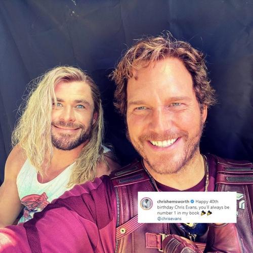 Chris Hemsworth dan Chris Pratt. (Foto: Instagram/@chrishemsworth)