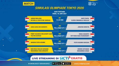 Simulasi Olimpiade Tokyo 2020