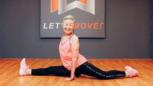 Nenek Takimika instruktur aerobik tertua di dunia. (Foto: Facebook Women of a Certain Age)