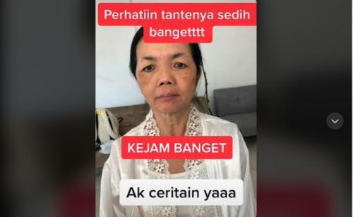 Viral nenek di-makeup berubah jadi mirip Milea. (Foto: TikTok @valentinusng)