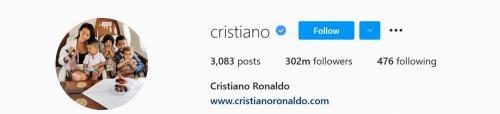 Cristiano Ronaldo (Foto: Instagram/@cristiano)