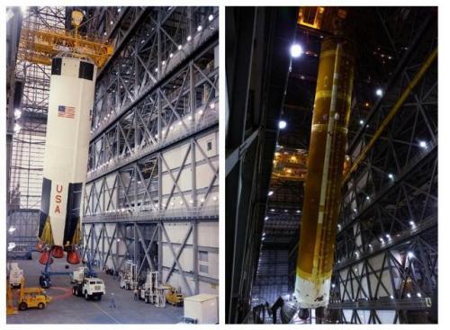 Megaroket SLS milik NASA untuk misi ke bulan. (Foto: NASA/Space.com)