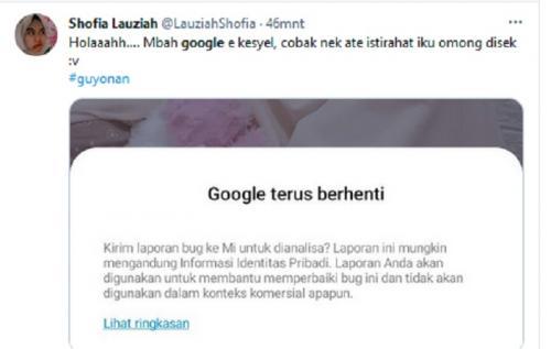 Google berhenti