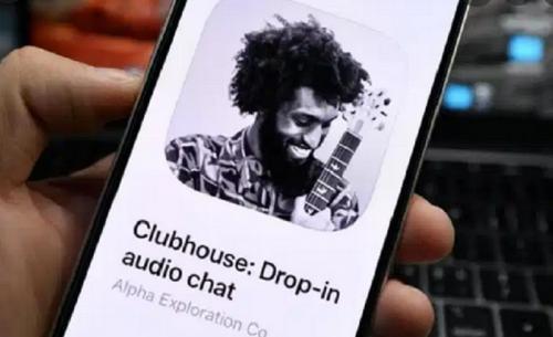 Aplikasi Clubhouse.