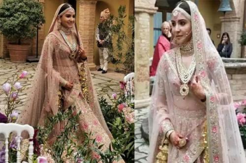 Baju pengantin Anuskha Sharma.