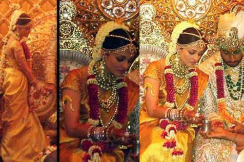 Baju pengantin Aishwarya Rai.