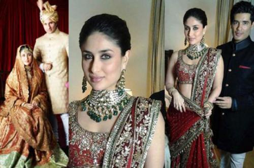 Baju pengantin Kareena Kapoor.